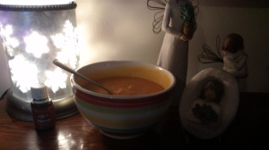 My essentials for winter: vegetable puree' soups and diffuser.